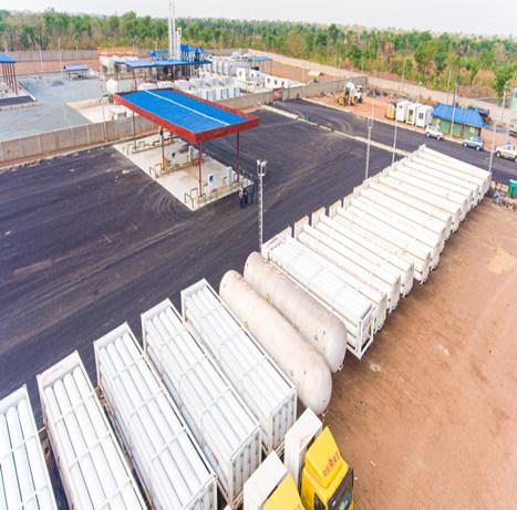 位于尼日利亚的安瑞科井口天然气回收系统